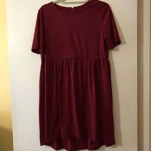 Dresses & Skirts - Red/Maroon Babydoll Style T-Shirt Dress